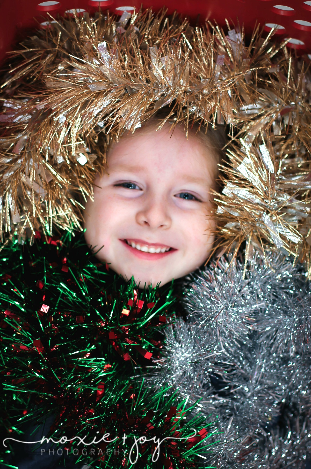 Girl with tinsel